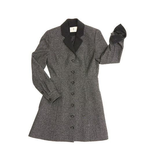 [앤유][균일가 세일]LISBON half coat & Dress ( Black herringbone check & Washed Black )