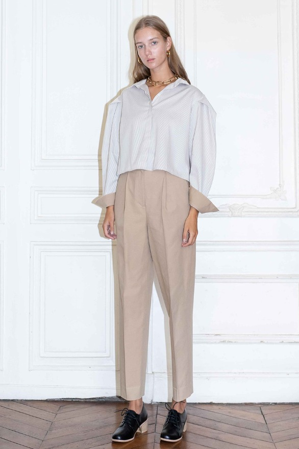 [앤유]TUILERIES pin tuck trousers (Beige)
