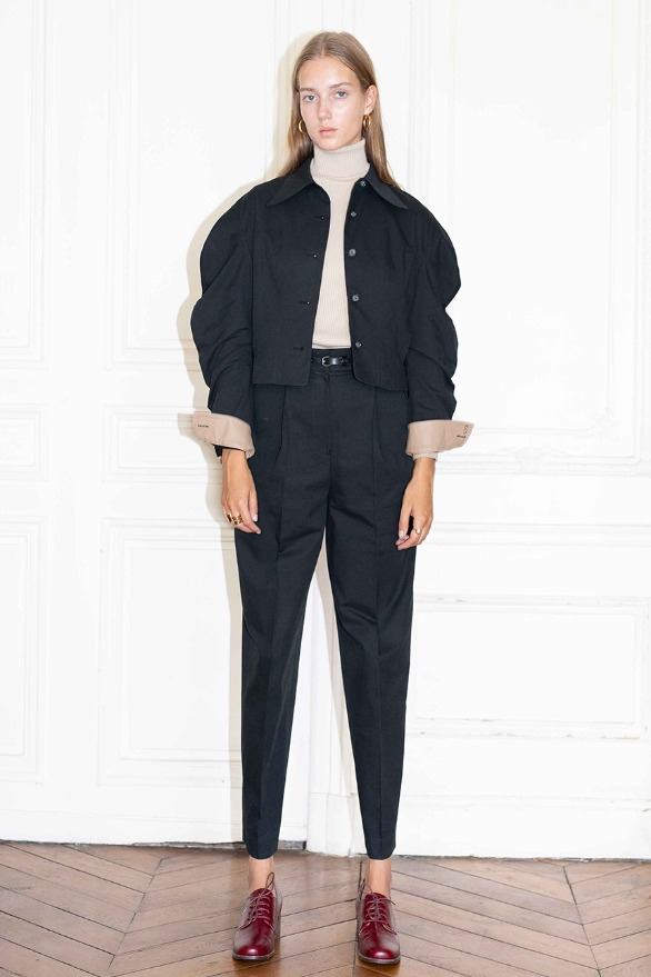 [앤유]TUILERIES pin tuck trousers (Black)