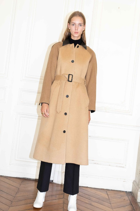 [앤유]VICTOR HUGO single button coat Camel,Brown