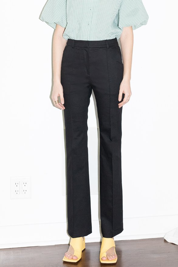 [앤유]20SS TOUR EIFFEL slim line trousers (Black)