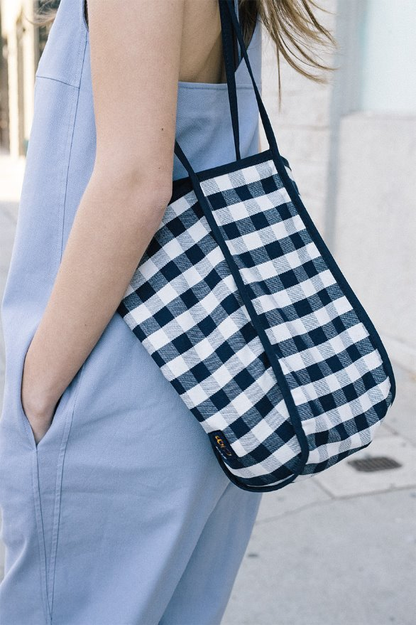 [김나영 노필터 TV]ITAEWON Bag (Navy Gingham/Brown Gingham)