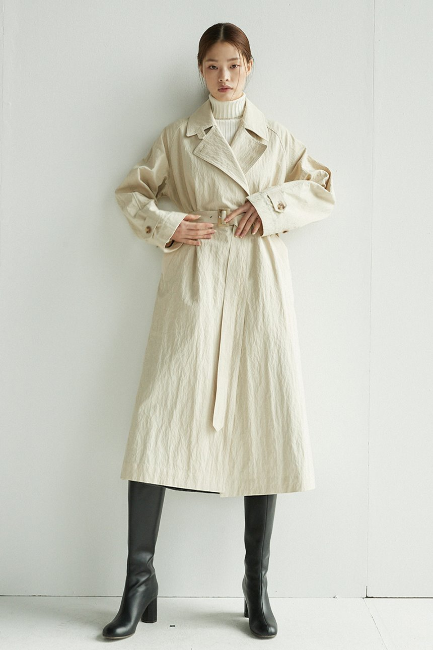 SAMGAKJI Trench coat (Light beige)