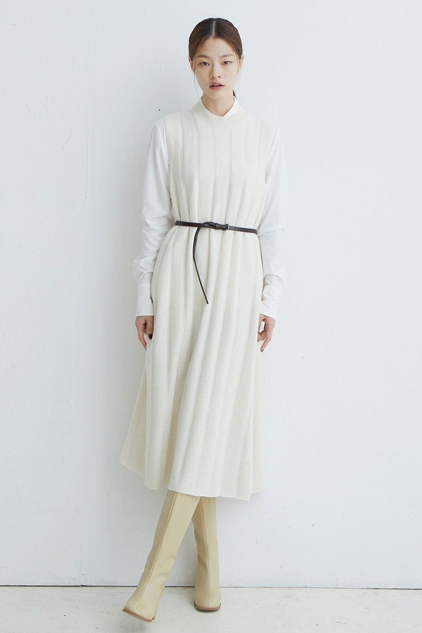 SEOUL FOREST Knit maxi dress (Ivory)