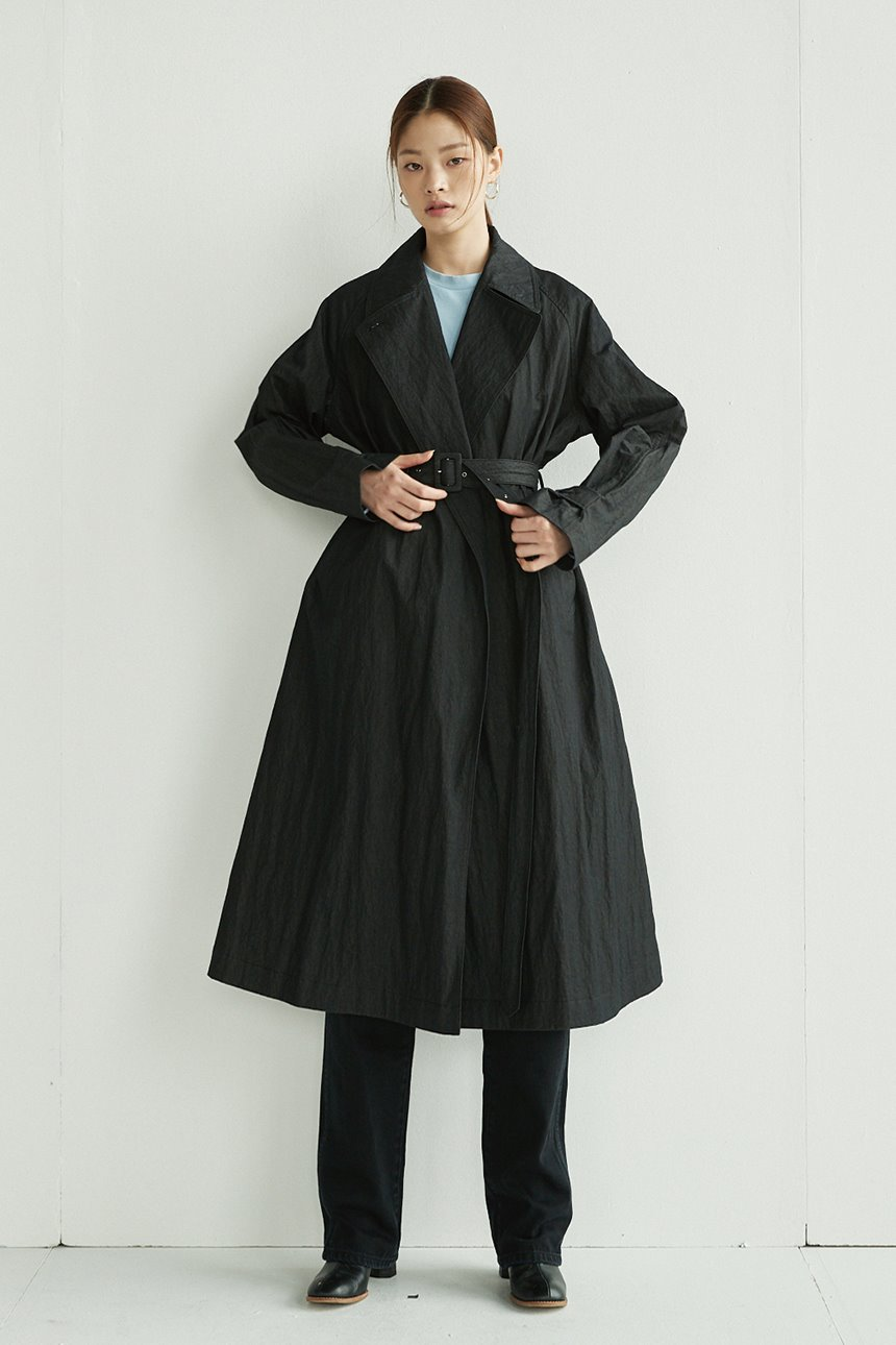 SAMGAKJI Trench coat (Black jean)