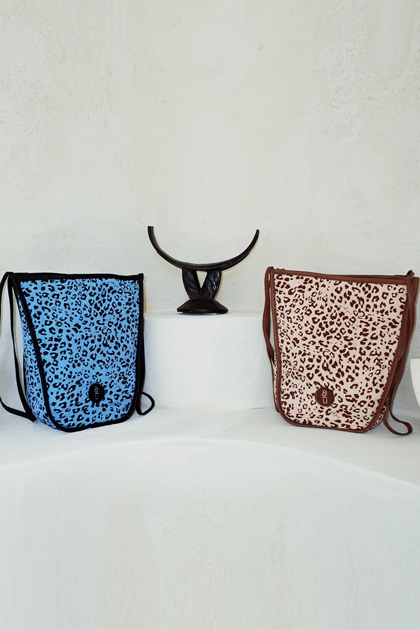 ITAEWON Bag (Leopard brown/Leopard blue)