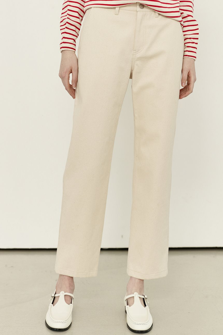 SANSEMI Straight fit trousers (Cream)