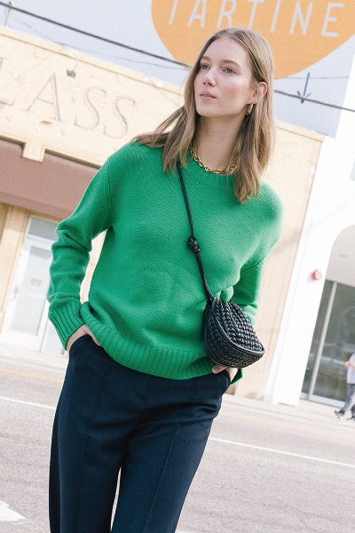 [앤유]CENTRAL PARK round knit (Fresh green)