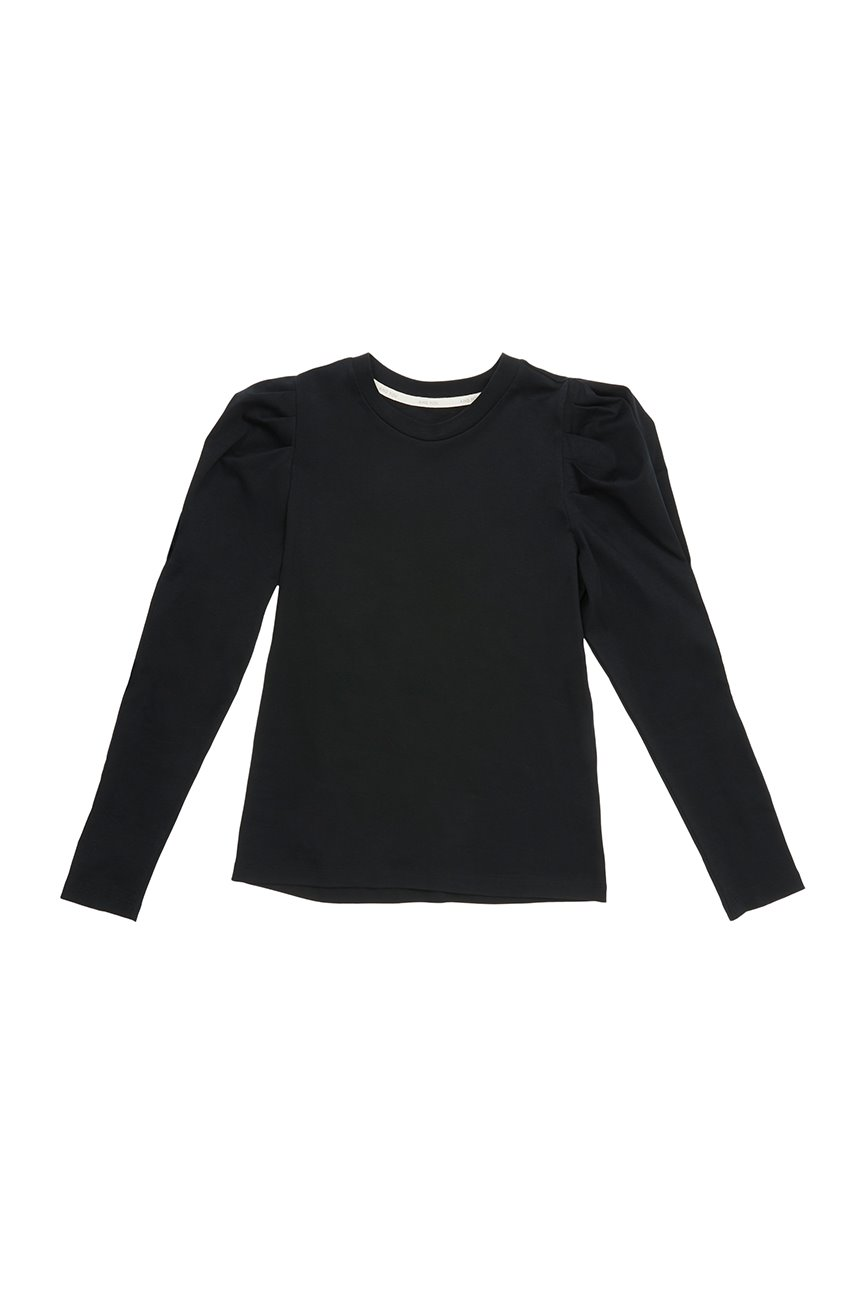 SSANGMUN Puffed long sleeve T-shirt (Black)