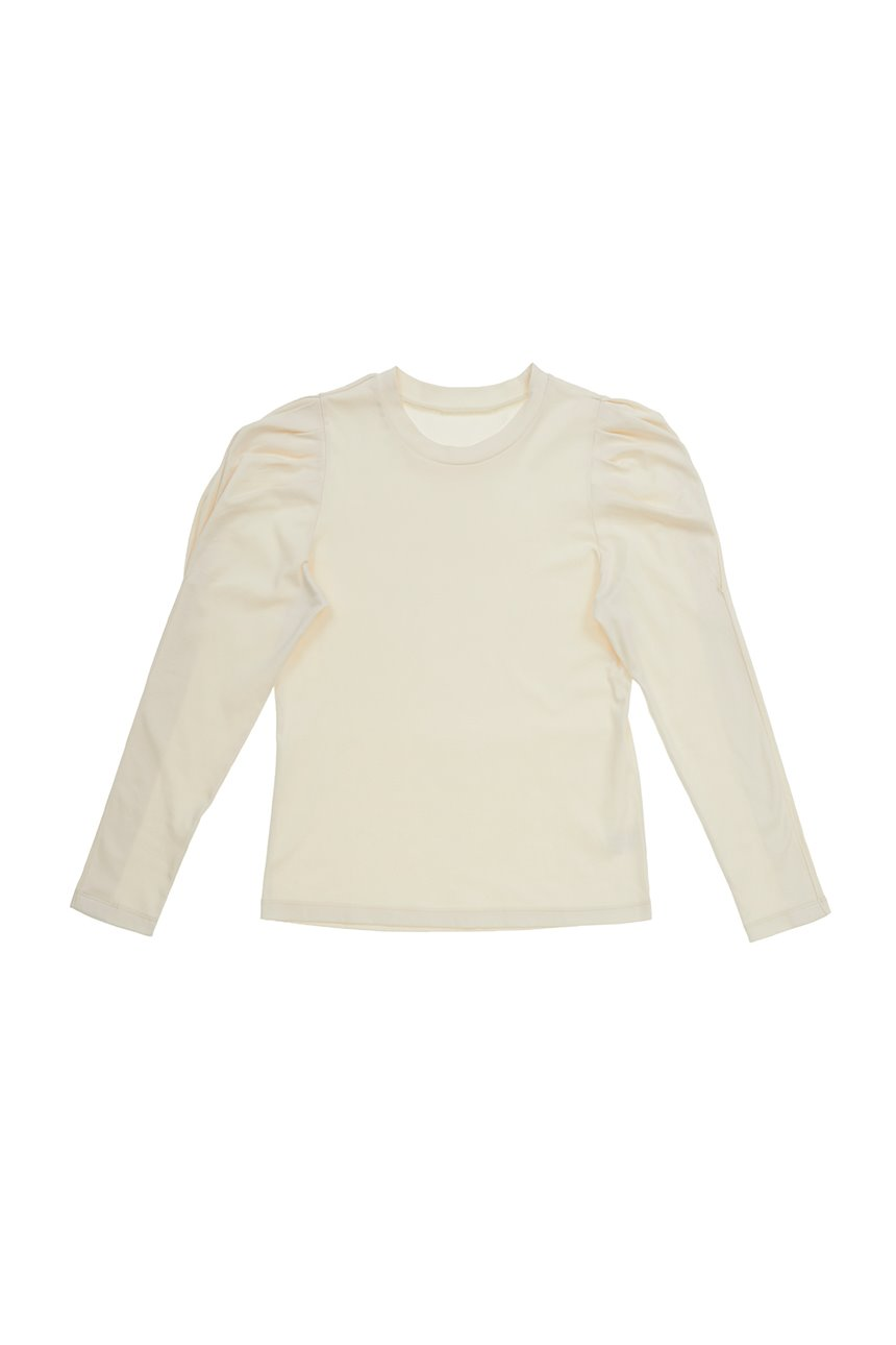 [앤유X노필터TV]SSANGMUN Puffed long sleeve T-shirt (Ivory)