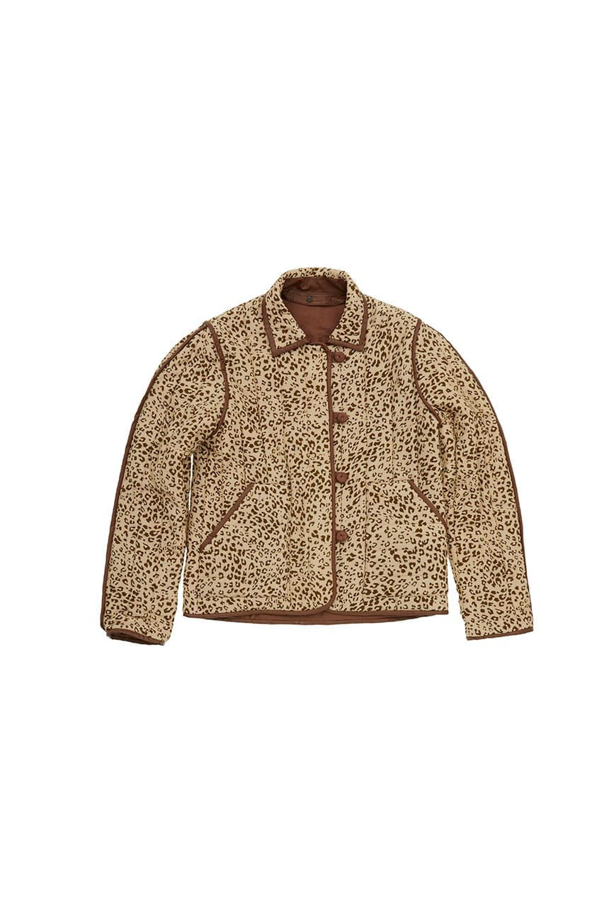 TTUKSEOM  Reversible quilted jumper (Leopard brown)