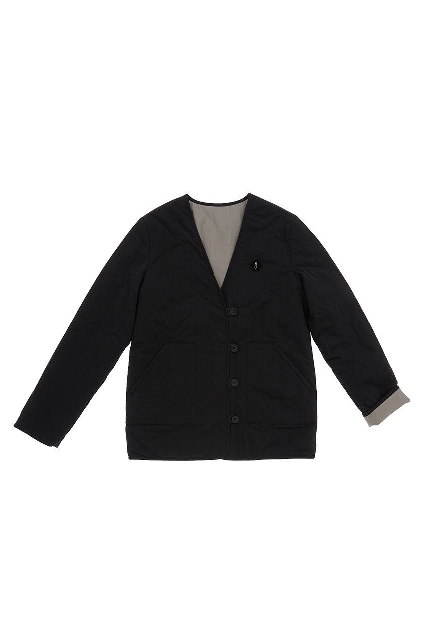 ICHON Reversible quilted jumper (Black)